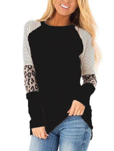 Load image into Gallery viewer, Long Sleeve Leopard/Stripe