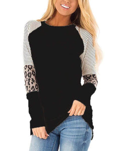 Long Sleeve Leopard/Stripe