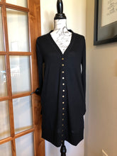Load image into Gallery viewer, Snap Button Cardigan Long - Black
