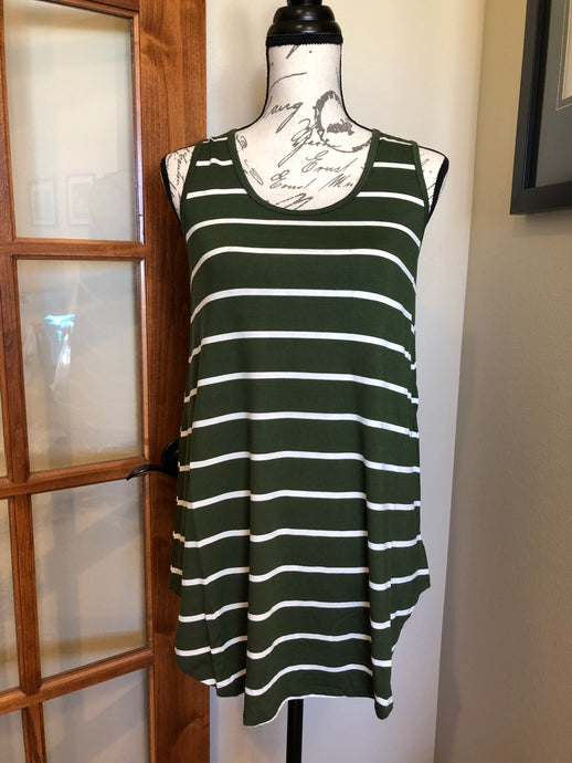 Swing Tank - Olive Stripe