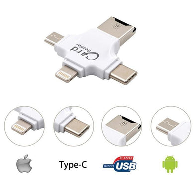 Card Reader 4 in One with USB 3.0 Stick