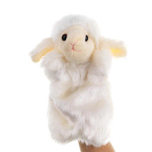 Baby Sheep White and Pink Stage Puppets, Playing and Teaching Plush Toys