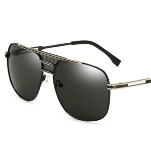 Men's Mirrored Celebrity Sunglasses Metal Frame