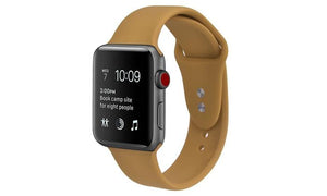 Silicone Sport Replacement Band for Apple Watch Series 1, 2, 3, & 4