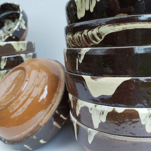 Two-Tone Chocolate Clay Bowl