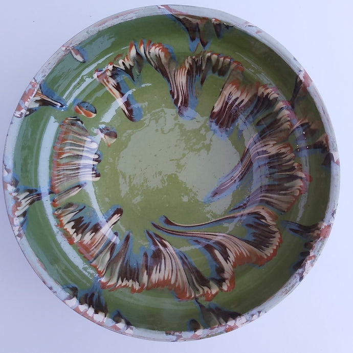 Lime Marble Effect Clay Bowl