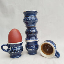 Load image into Gallery viewer, Navy Espresso Egg Cup - Casa De Folklore