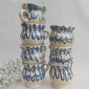 Medium Handmade Mug in Aqua - Casa De Folklore