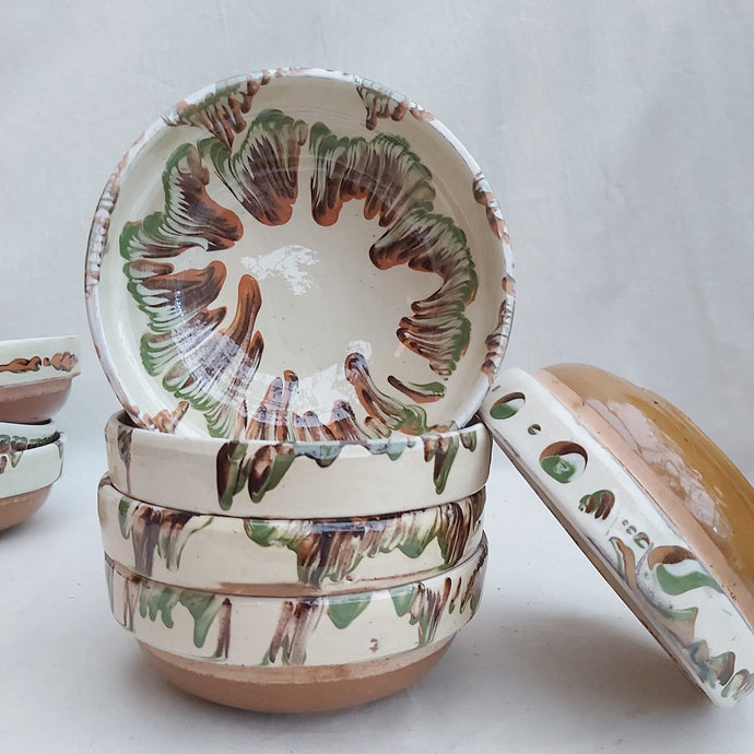 Cream Marble Flower Bowl