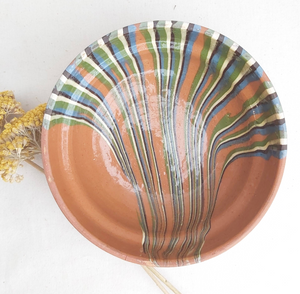 Tan Striped Bowl