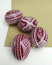 Load image into Gallery viewer, Red Hand-Painted Easter Eggs