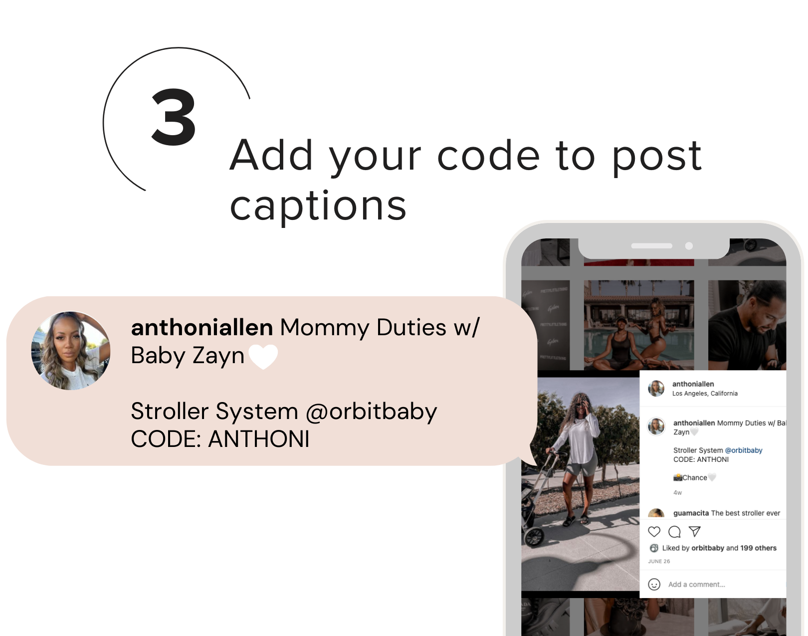 Add your code to post captions