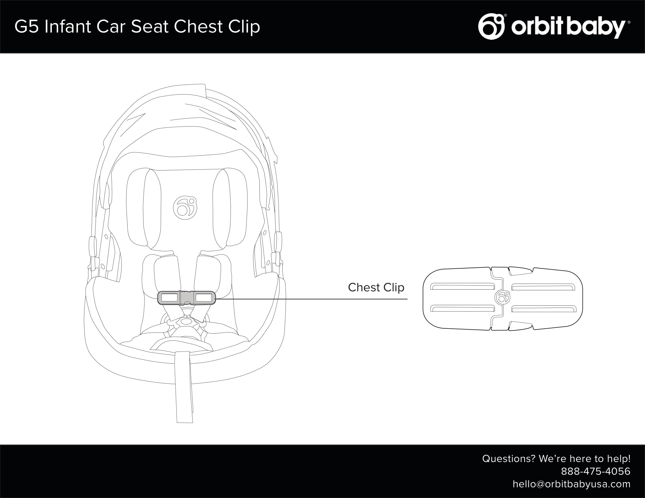 Orbit Baby Chest Clip Assembly
