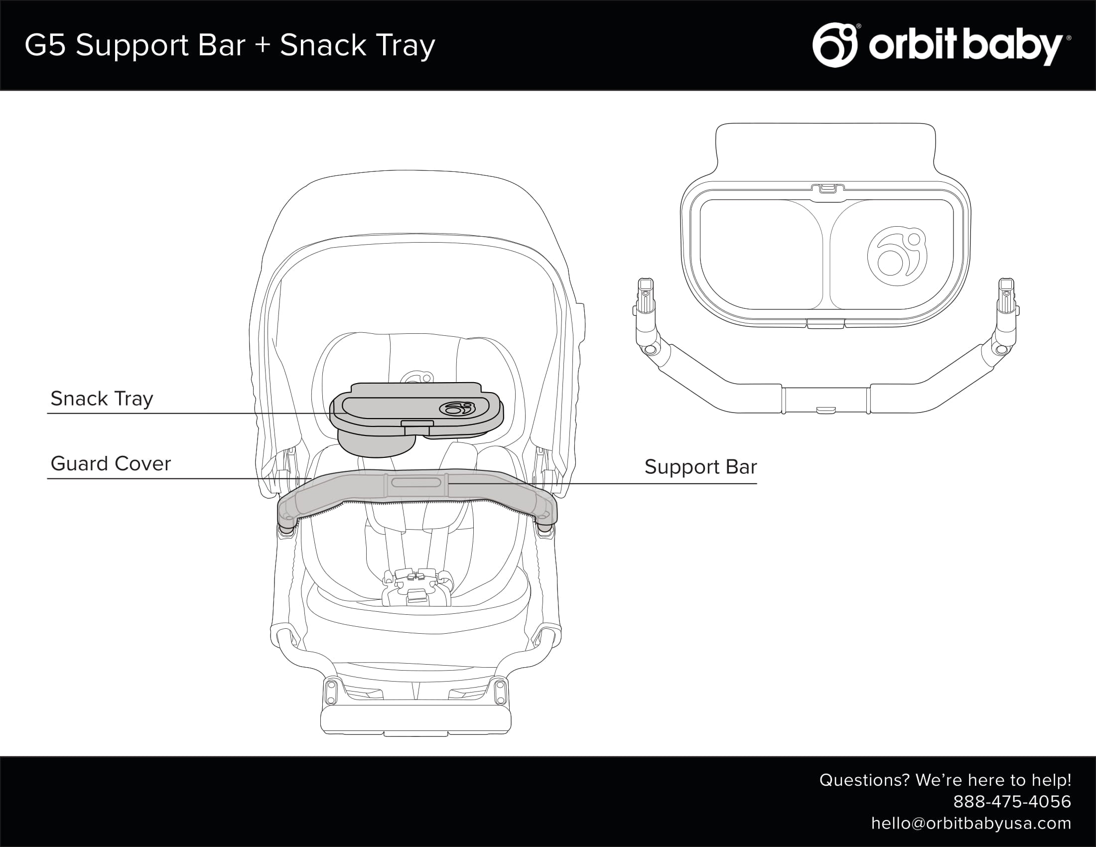 G5 Support Bar and Snack Tray Manual