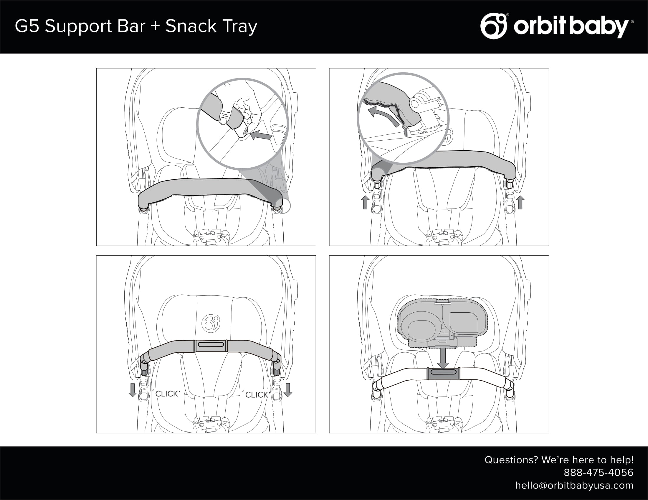 G5 Support Bar + Snack Tray Manual