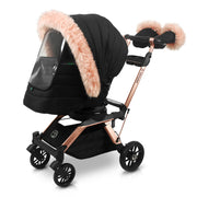 G5 Stroller Winter Kit in Black with Pink