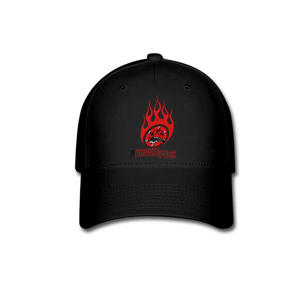 Rocket Puck Flame Hat - black
