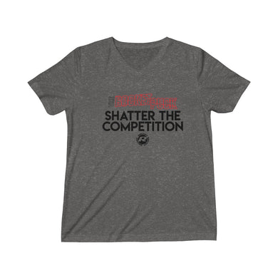 Unisex Triblend Short Sleeve V-Neck Rocket Shatter Tee