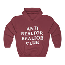Load image into Gallery viewer, Anti Realtor Club Heavy Blend™ Hooded Sweatshirt