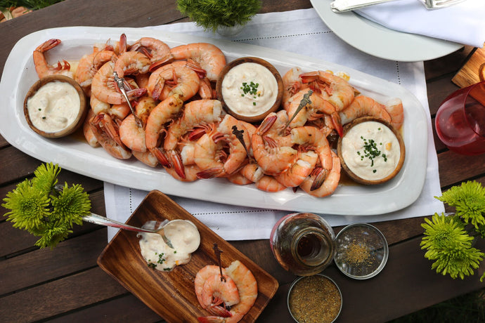 Peel and Eat Shrimp with Yogurt Dipping Sauce