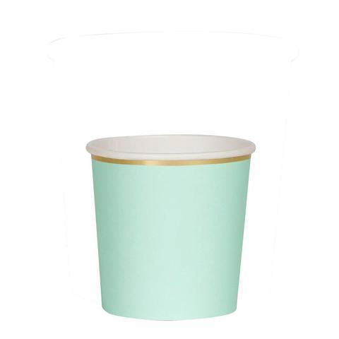 Happy Sprinkles Streusel Mint Pappbecher mit Goldrand