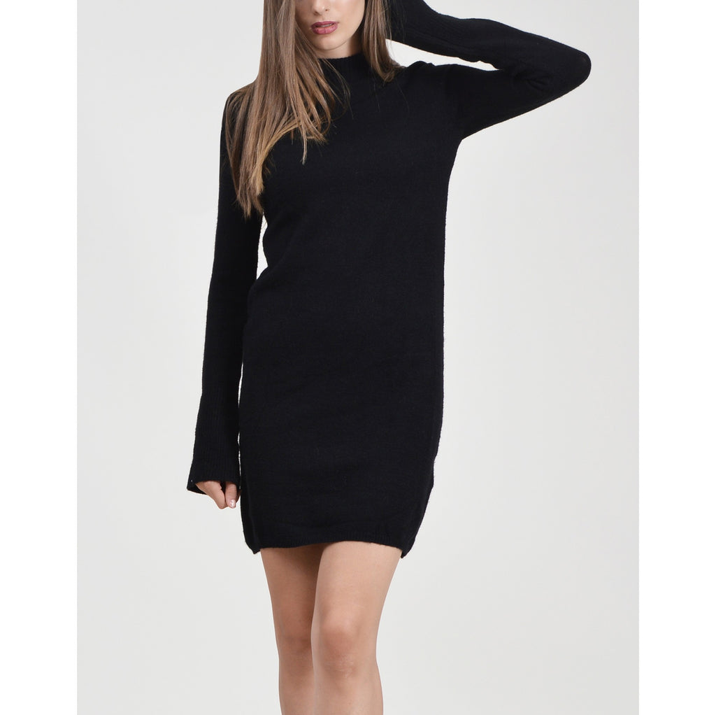 Pulover Raspberry - Black Jumper Dress