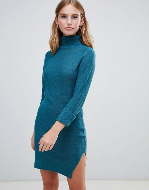 Pulover Brave Soul - Mandy Roll Neck Jumper Dress