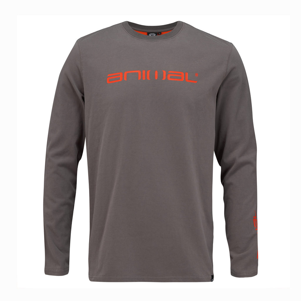 Bluză Animal Long Sleeve Tee- Grey-Orange