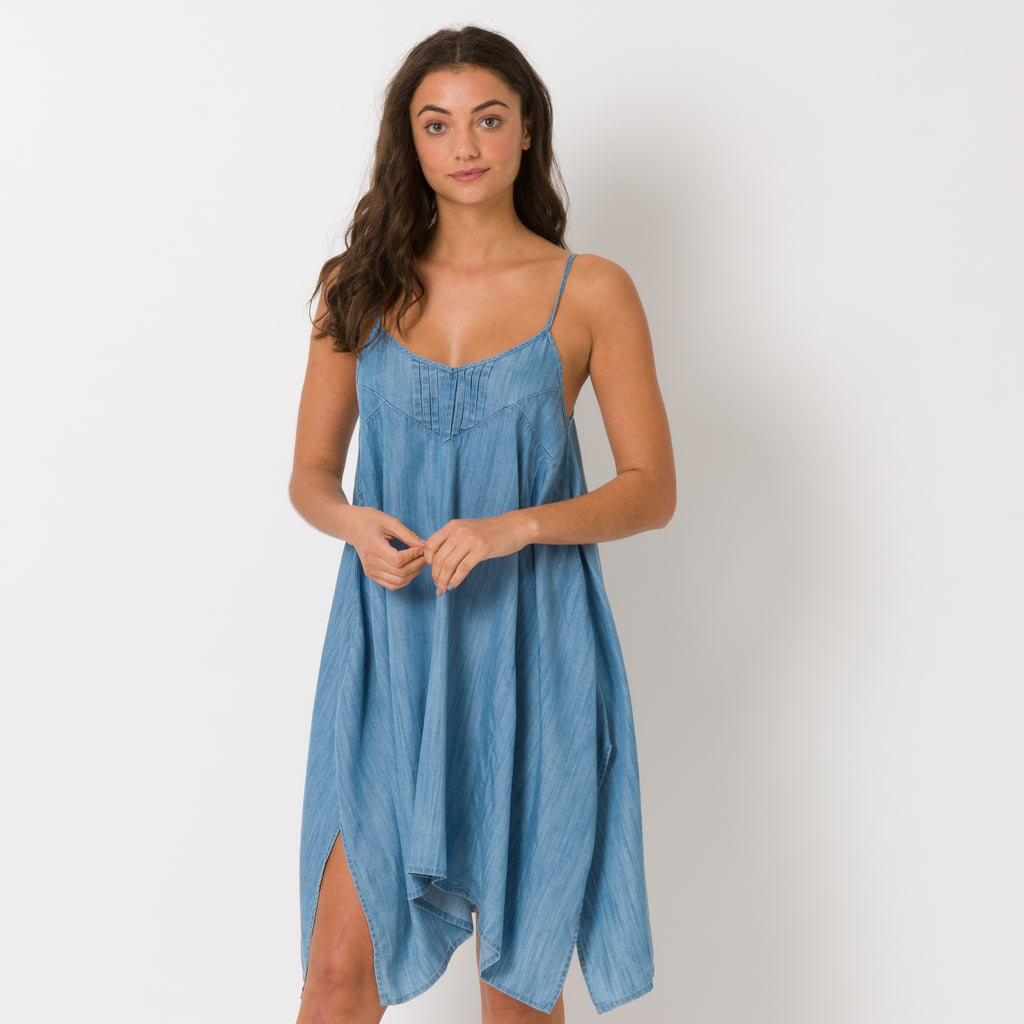 Rochie Animal Boho Betty- Chambray Blue
