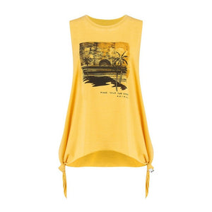 Maieu Animal Graphic Vest Beached