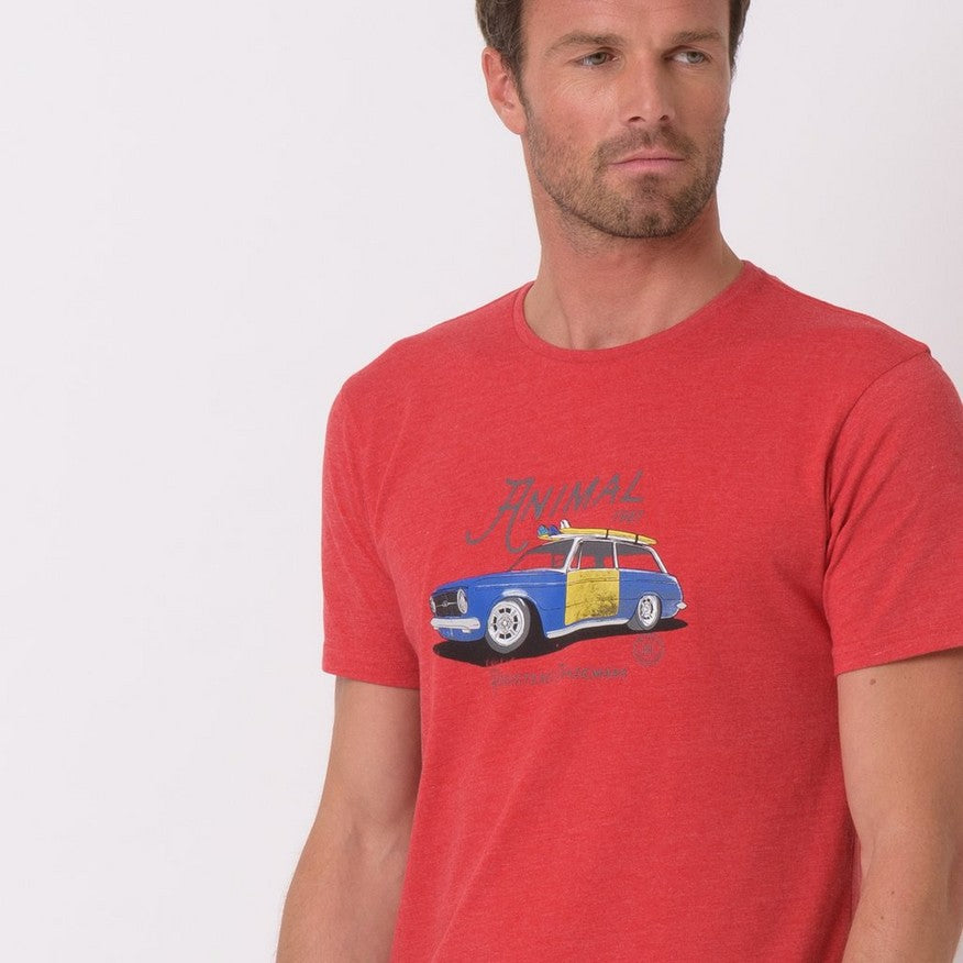 Tricou Animal - Trip - Red Marl