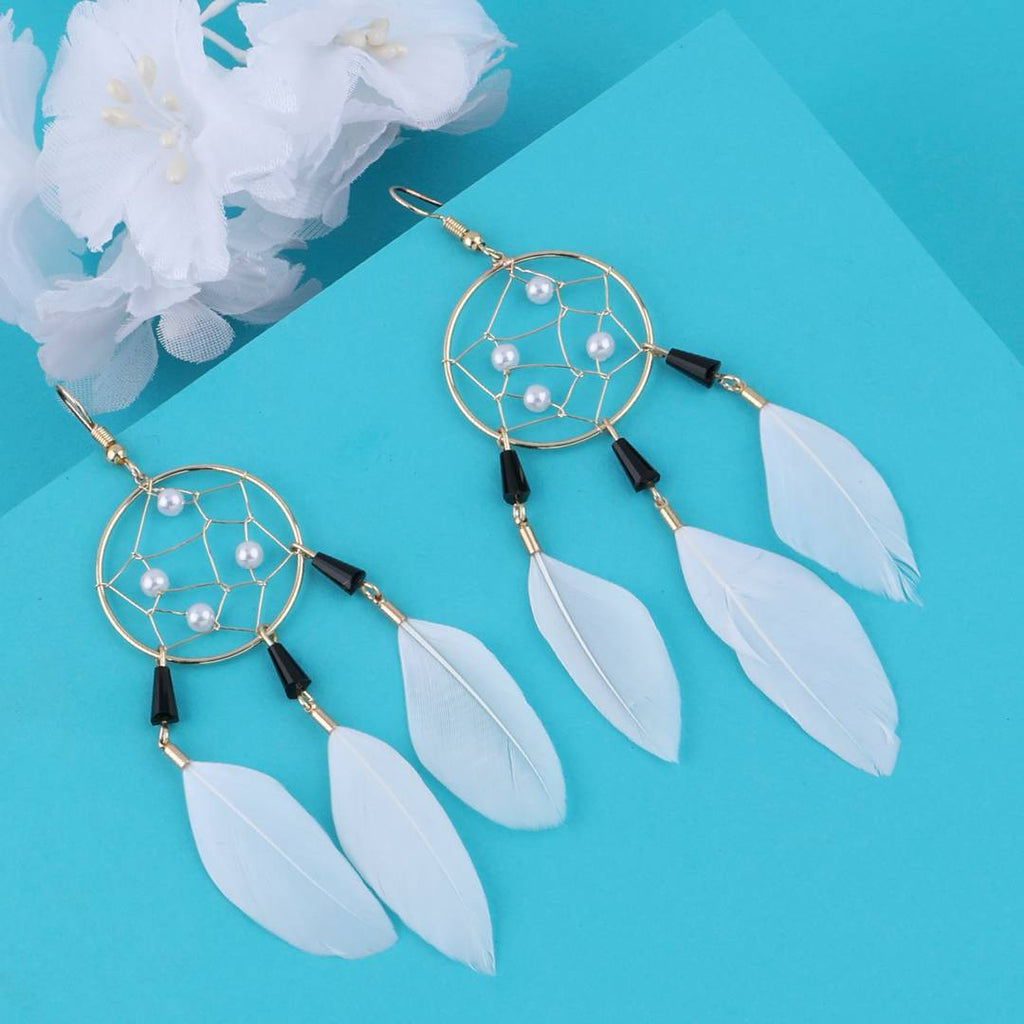 Dream Catcher Pearly Earring
