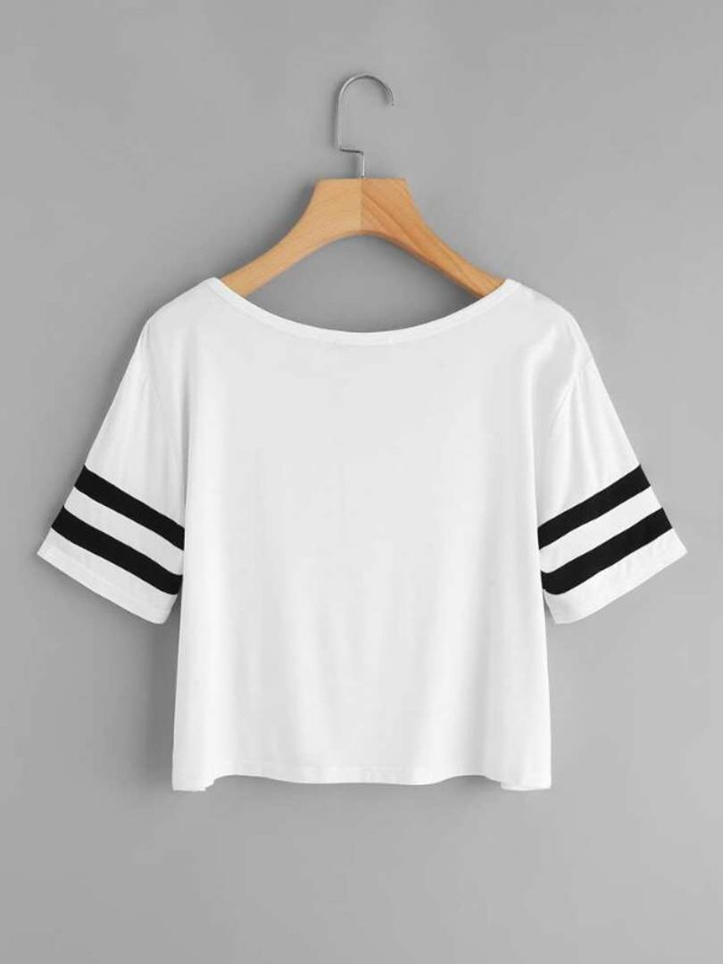 White Plain Cross Neck Top
