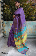 Load image into Gallery viewer, Fragrant Lavender Handwoven Silk Saree