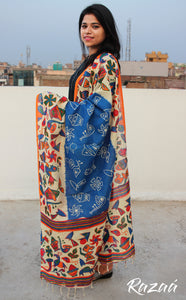 Cotton Textured Dupatta With Tribal Art Print