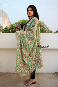 Cotton Silk Hand Printed Dupatta