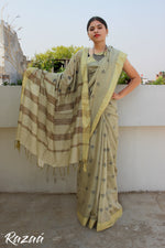 Load image into Gallery viewer, Mehendi Liva Saree with motifs