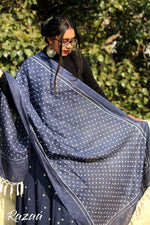 Load image into Gallery viewer, Indigo Polka Mulmul Scarf
