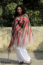 Load image into Gallery viewer, Coral Red Ikat Dupatta