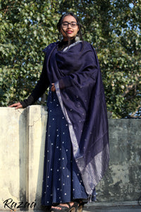 Blue Berry Liva Dupatta
