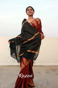 Temple Border Liva Saree