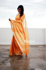 Load image into Gallery viewer, Apricot Summer Cotton Liva Saree