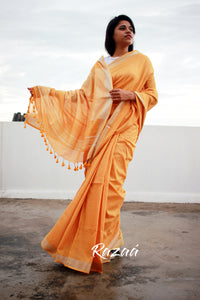 Apricot Summer Cotton Liva Saree