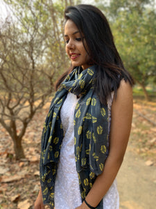 Mulmul Cotton Printed Scarf