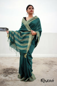Pine Green Liva Saree