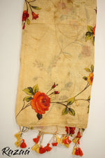 Load image into Gallery viewer, Liva Linen Digital Painted Floral Dupatta