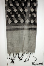 Load image into Gallery viewer, Black n White Diamonds Liva Dupatta
