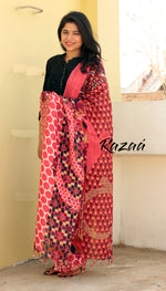 Load image into Gallery viewer, Fuchsia Linen Abstract floral Dupatta