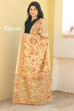 Load image into Gallery viewer, Warli Print Beige Cotton Dupatta