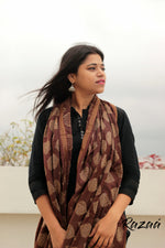 Load image into Gallery viewer, Brown Jacquard Liva Dupatta